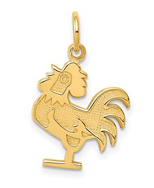 Rooster Charm in 14k Yellow Gold