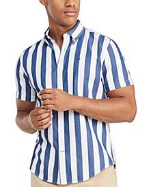 Men's Marcel Custom-Fit Stripe Twill Shirt