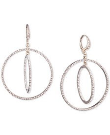 Crystal Pavé Orbital Drop Earrings