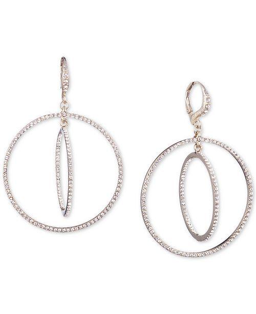 Givenchy Crystal Pavé Orbital Drop Earrings