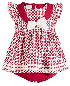 Baby Girls Cotton Printed Sunsuit, Created For Macy's