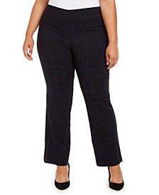 Plus Size Pull-On Plaid Pants, Created For Macy's