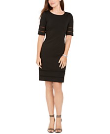 Jessica Howard Petite Illusion Ribbed Dress