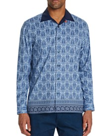 Tallia Men's Slim-Fit Performance Stretch Paisley Long Sleeve Camp Shirt