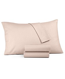 CLOSEOUT! Embossed 4-Pc. Queen Sheet Set
