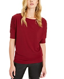 Michael Michael Kors Grommet-Sleeve Top, Regular & Petite Sizes
