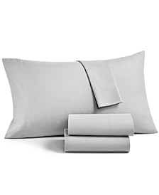 Solid Microfiber 4-Pc. Full Sheet Set, Created for Macy's