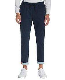 Tallia Men's Tapered Geo Drawstring Pants
