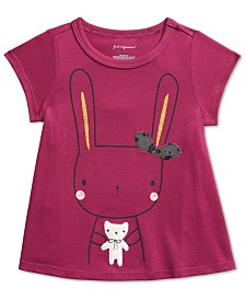 First Impressions Baby Girls Bunny-Print Cotton T-Shirt, Created For Macy's