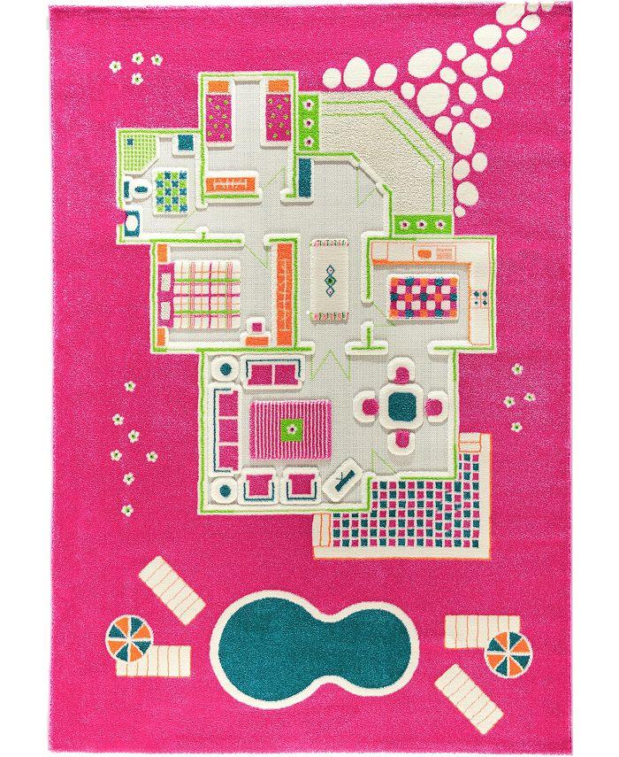 IVI - Playhouse Pink 3D Play Rug