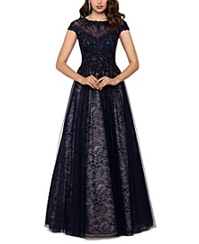 Embroidered Lace Ballgown