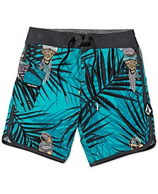Toddler & Little Boys Parrot-Print Swim Trunks