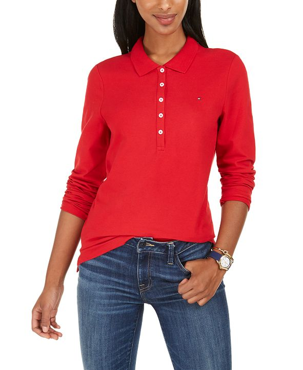 Tommy Hilfiger Long-Sleeve Polo Top