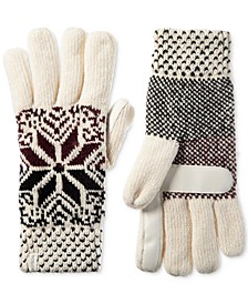 Women's Chenille Snowflake Gloves