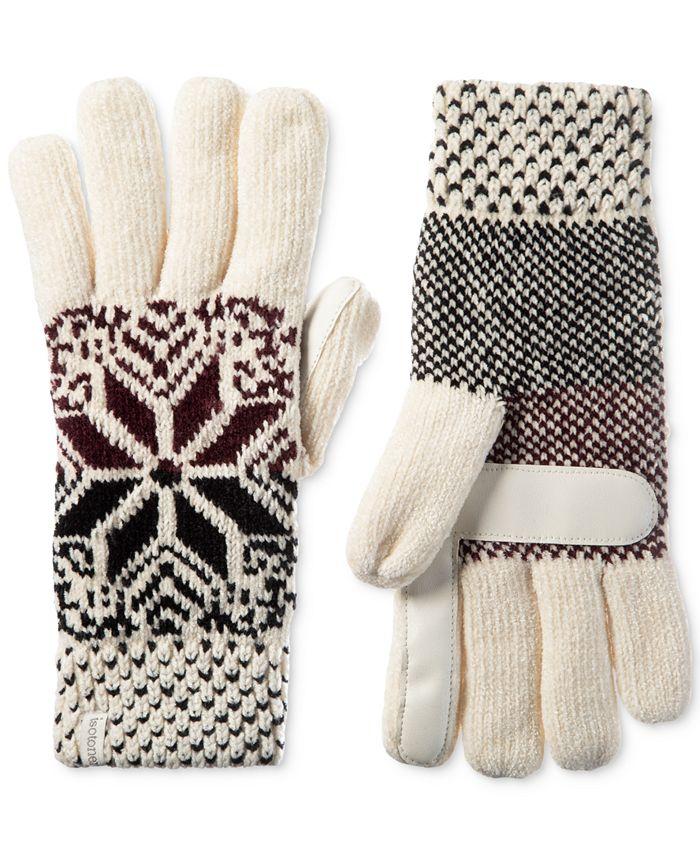 Isotoner Signature - Women's Chenille Snowflake Gloves