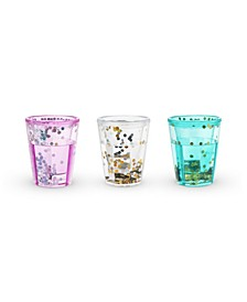 Mermaid Sparkle Glitter Shot Glasses