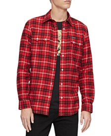 Calvin Klein Jeans Men's Western Plaid Shirt