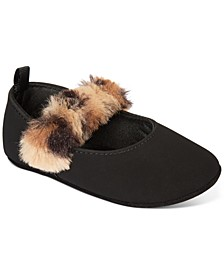 Baby Girls Faux-Fur Strap Flat, Created For Macy's