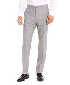 HUGO by Hugo Boss Men's Slim-Fit Medium Gray Stripe Suit Separate Pants