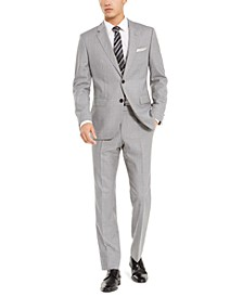 Men's Slim-Fit Medium Gray Stripe Suit Separates