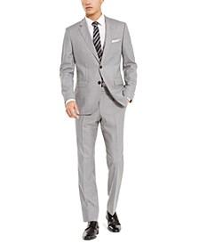 Men's Slim-Fit Medium Gray Stripe Suit Separates