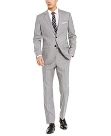 HUGO by Hugo Boss Men's Slim-Fit Medium Gray Stripe Suit Separates