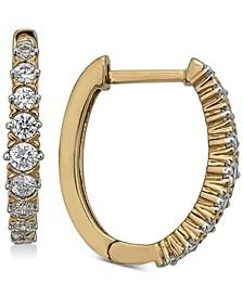 Diamond Hoop Earrings (1/2 ct. t.w.) in 14k Gold