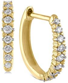 Diamond Hoop Earrings (1/4 ct. t.w.) in 14k Gold