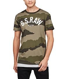 G-Star RAW Men's Camouflage Logo T-Shirt