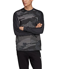 adidas Men's Originals Colorblocked Camo Long-Sleeve T-Shirt