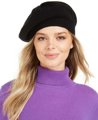 Cashmere Rib Beret, Created For Macy's