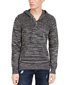 Men's Heathered Henley Hoodie, Created For Macy's