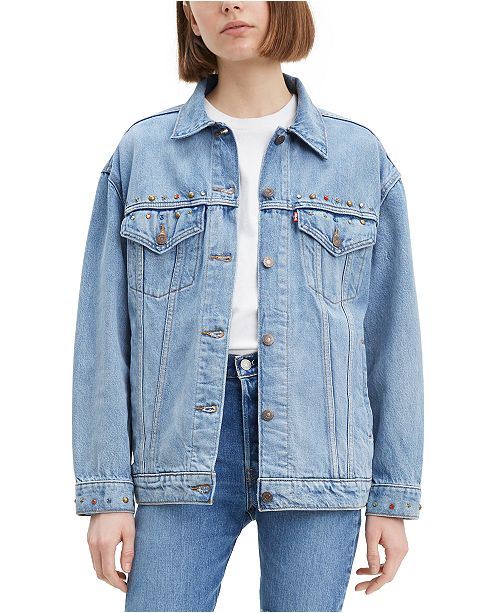 Levi's Women's Baggy Trucker Embellished Cotton Denim Jacket