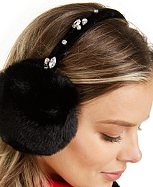 INC Gemstones Faux-Fur Earmuffs, Created For Macy's