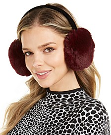 INC Faux-Fur Velvet-Band Earmuff, Created For Macy's