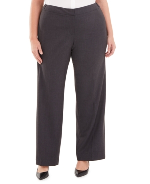 Calvin Klein Plus Highline Straight-Leg Pants