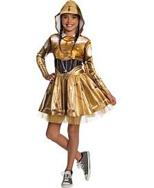 BuySeasons Girl's Star Wars Classic C3Po Dress Child Costume