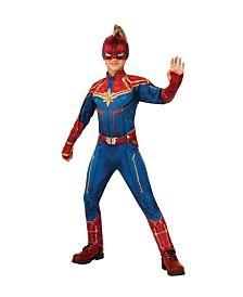 BuySeasons Girl's Captain Marvel Hero Suit Deluxe Child Costume