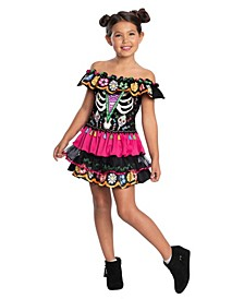 Big and Toddler Girls Day of the Dead Costume