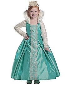 Little and Big Girl's Queen Evelyn Child Costume