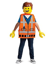 Little and Big Boy's Lego Movie 2 - Emmet Basic Child Costume