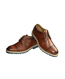Men's Punch Derby Shoe with Comfort Sole