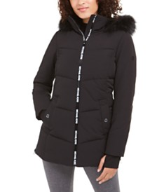Michael Michael Kors Active Hooded Faux-Fur-Trim Puffer Coat