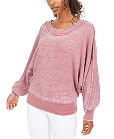 Juniors' Textured Dolman-Sleeve Top, Created For Macy's