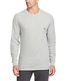 Men's Long Waffle Crewneck Pajama Shirt