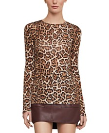BCBGMAXAZRIA Animal-Print Top