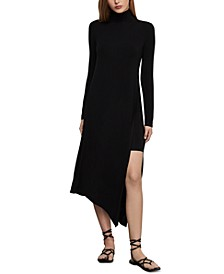 Asymmetrical Turtleneck Dress