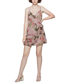 BCBGeneration Floral-Print Wrap Dress