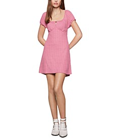 Empire-Waist Mini Babydoll Dress
