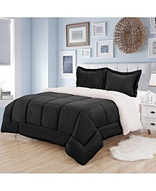 Sherpa 3-Pc. King Comforter Set